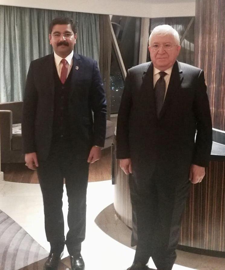 """فى لقاء مفوض المجلس بالعراق مع الرئيس .. قريبا رئيس جمهورية العراق يستقبل """" نورالدين """" و """" زهير"""" و """" الشيبى """""""